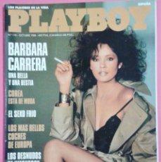 Coleccionismo de Revistas y Periódicos: REVISTA PLAYBOY Nº 118 - BARBARA CARRERA - COREA - SEXO FRIO - DESNUDOS HITCHCOCK -EROTICA -AÑO 1988. Lote 101447807