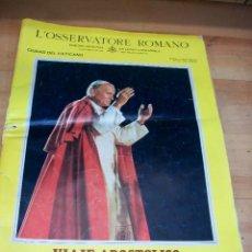 Coleccionismo de Revistas y Periódicos: VIAJE APOSTOLICO DE JUAN PABLO II A ESPAÑA-L`OSSERVATORE ROMANO. Lote 101488835