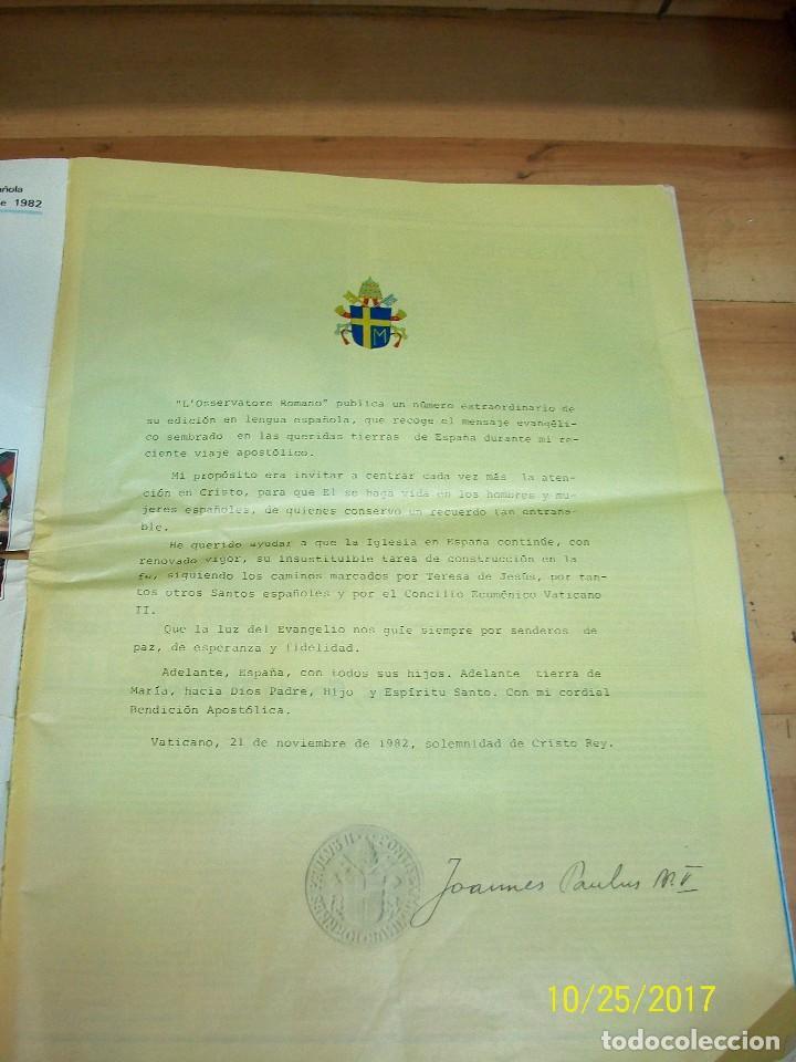Coleccionismo de Revistas y Periódicos: VIAJE APOSTOLICO DE JUAN PABLO II A ESPAÑA-L`OSSERVATORE ROMANO - Foto 3 - 101488835