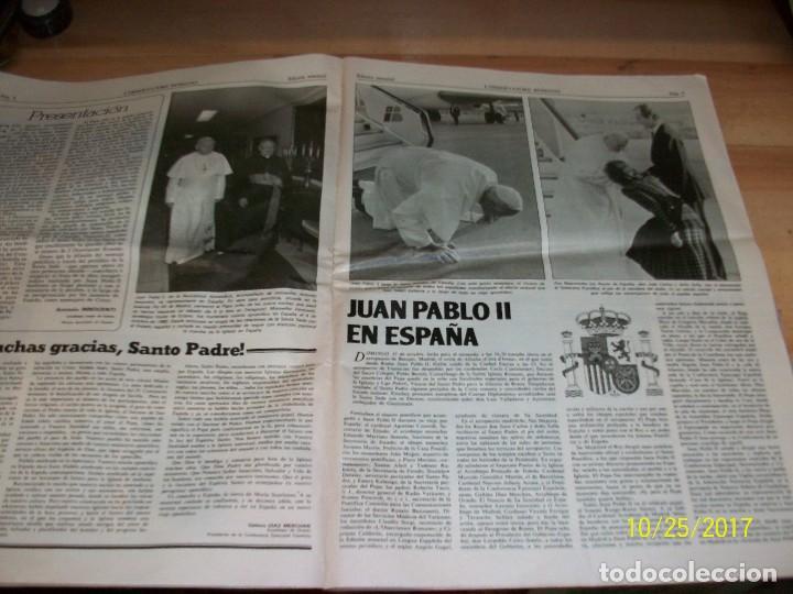 Coleccionismo de Revistas y Periódicos: VIAJE APOSTOLICO DE JUAN PABLO II A ESPAÑA-L`OSSERVATORE ROMANO - Foto 4 - 101488835