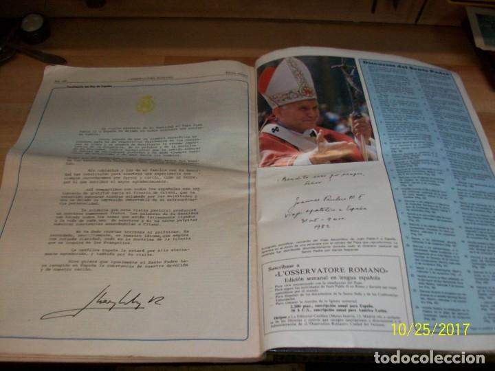 Coleccionismo de Revistas y Periódicos: VIAJE APOSTOLICO DE JUAN PABLO II A ESPAÑA-L`OSSERVATORE ROMANO - Foto 6 - 101488835