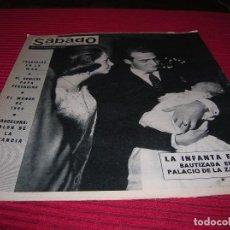 Coleccionismo de Revistas y Periódicos: REVISTA SÁBADO GRÁFICO.BAUTIZO DE LA INFANTA ELENA.AÑO 1964. Lote 101627475