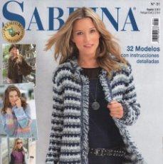 Coleccionismo de Revistas y Periódicos: SABRINA N. 31 - 32 MODELOS CON INSTRUCCIONES DETALLADAS (NUEVA). Lote 101730587
