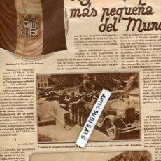 Coleccionismo de Revistas y Periódicos: REVISTA AÑO 1929 REPORTAJE SOBRE ANDORRA HISTORIA DEL REAL UNION CLUB IRUN FUTBOL CAPUZ TOROS DENIA . Lote 101766471