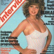 Coleccionismo de Revistas y Periódicos: REVISTA: INTERVIU NUMERO 0358: RACHEL EVANS GOZO PRIMAVERAL (ZETA 1983). Lote 102013310