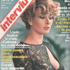 Coleccionismo de Revistas y Periódicos: REVISTA: INTERVIU NUMERO 0095: EDWIGE FENECH PIEL DE PURPURINA (ZETA 1978). Lote 102013482