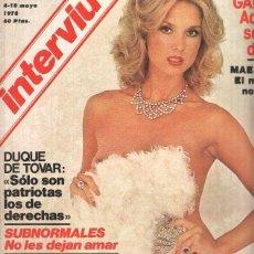 Coleccionismo de Revistas y Periódicos: REVISTA: INTERVIU NUMERO 0103: SBARBARA BOUCHET ORGIA DE COJINES (ZETA 1978). Lote 102013510