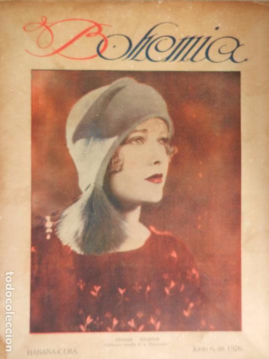 REVISTA BOHEMIA HABANA CUBA. JUNIO DE 1926.ESTHER RALSTON. (Coleccionismo - Revistas y Periódicos Antiguos (hasta 1.939))