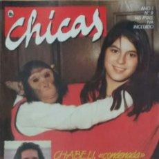 Colecionismo de Revistas e Jornais: REVISTA CHICAS AÑO I N° 9, 1986 CHABELI, ESTEFANÍA. Lote 102103056
