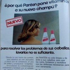 Coleccionismo de Revistas y Periódicos: ANUNCIO CHAMPU PANTEN . Lote 102298227