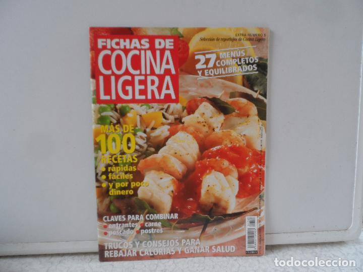 COCINA LIGERA Y VIDA SANA FICHAS EXTRA Nº 5 (Coleccionismo - Revistas y Periódicos Modernos (a partir de 1.940) - Otros)