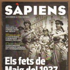 Coleccionismo de Revistas y Periódicos: REVISTA SAPIENS Nº 116 - ELS FETS DE MAIG DEL 1937. Lote 134900683