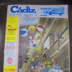 Coleccionismo de Revistas y Periódicos: REVISTA CADIZ EN SUS FIESTAS FOLKLORICAS 1958. ESPECIAL DEDICADO A LA FIESTA. LEER. Lote 102675559