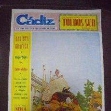 Coleccionismo de Revistas y Periódicos: REVISTA CADIZ. EN SUS FIESTAS FOLKLORICAS 1960. NUMERO ESPECIAL. LEER. Lote 102677715