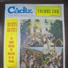 Coleccionismo de Revistas y Periódicos: REVISTA CADIZ. EN SUS FIESTAS FOLKLORICAS 1961. NUMERO ESPECIAL. 28 FEBRERO. LEER. Lote 102677823
