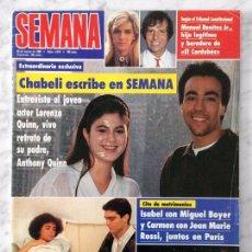 Coleccionismo de Revistas y Periódicos: SEMANA - 1990 - TINA TURNER, LOLA DEL PARAMO, J.M. SOTO, BLANCA MARSILLACH, ANA OBREGON, SABRINA. Lote 102682239
