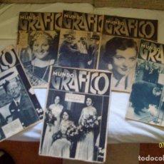 Coleccionismo de Revistas y Periódicos: LOTE MUNDO GRAFICO 6 REVISTAS. Lote 102685191