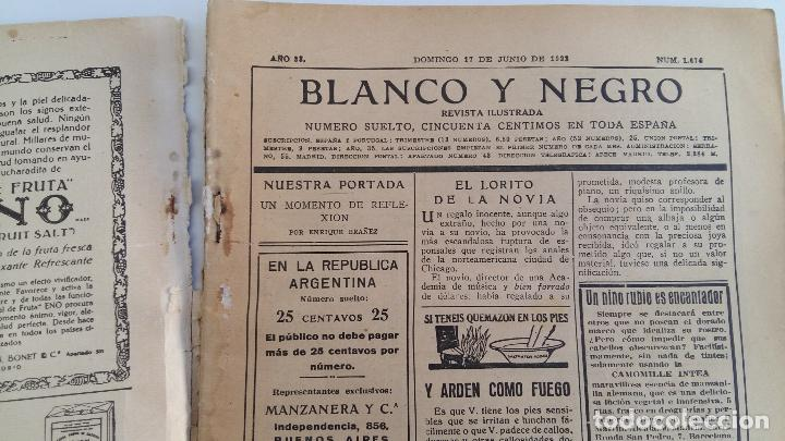 Coleccionismo de Revistas y Periódicos: REVISTA ILUSTRADA BLANCO Y NEGRO. 17 JUNIO 1923 - Foto 2 - 102776663
