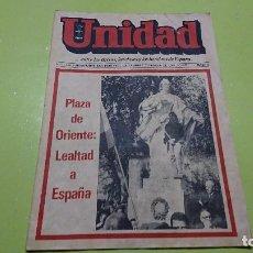 Coleccionismo de Revistas y Periódicos: REVISTA, PERIÓDICO UNIDAD, NOVIEMBRE 1981. Lote 102837375