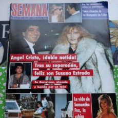 Coleccionismo de Revistas y Periódicos: PORTADA DE SUSANA ESTRADA ANGEL CRISTO SAMANTHA FOX. Lote 102985067