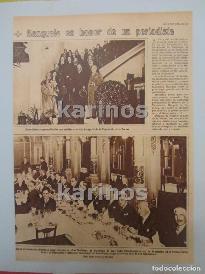 1930 Barcelona, banquete a José León Fernándescoa director de Las Noticias. Boda bailarina Juanita segunda mano