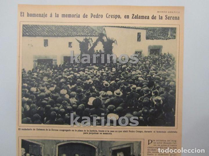 Coleccionismo de Revistas y Periódicos: 1930 Zalamea de la Serena, homenaje a Pedro Crespo. Melilla, Conductores La Fraternidad, Sidi – Abb - Foto 2 - 103107475