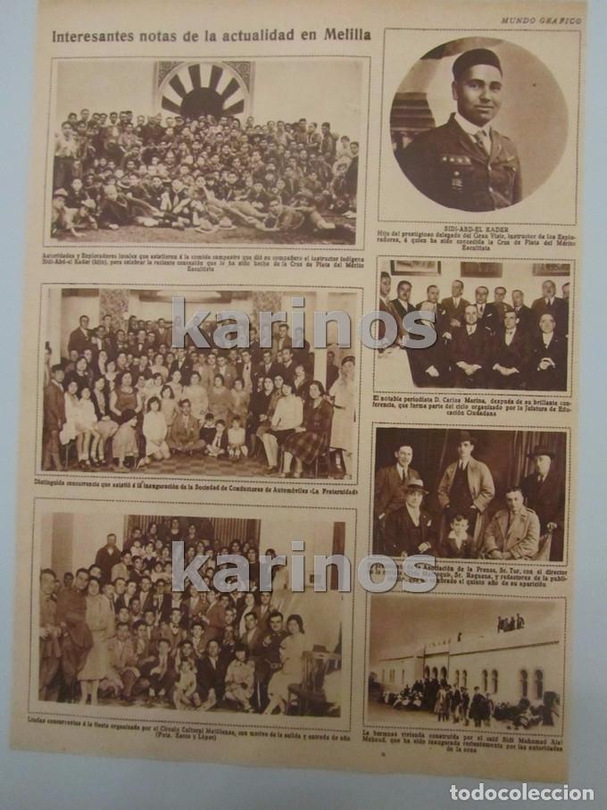 Coleccionismo de Revistas y Periódicos: 1930 Zalamea de la Serena, homenaje a Pedro Crespo. Melilla, Conductores La Fraternidad, Sidi – Abb - Foto 3 - 103107475