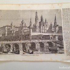 Coleccionismo de Revistas y Periódicos: HOJA GRABADO REVISTA ORIGINAL MEDIADOS SIGLO XIX. VISTA DEL KREMLIN, MOSCU. Lote 103108435