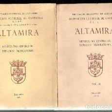 Coleccionismo de Revistas y Periódicos: ALTAMIRA. REVISTA DEL CENTRO DE ESTUDIOS MONTAÑESES, 1974. 2 VOLÚMENES A-LCANT-042. Lote 103123603