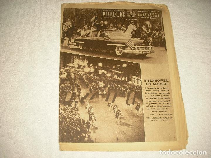 DIARIO BARCELONA N° 304 . DICIEMBRE 1959 EISENHOWER EN MADRID (Coleccionismo - Revistas y Periódicos Modernos (a partir de 1.940) - Otros)