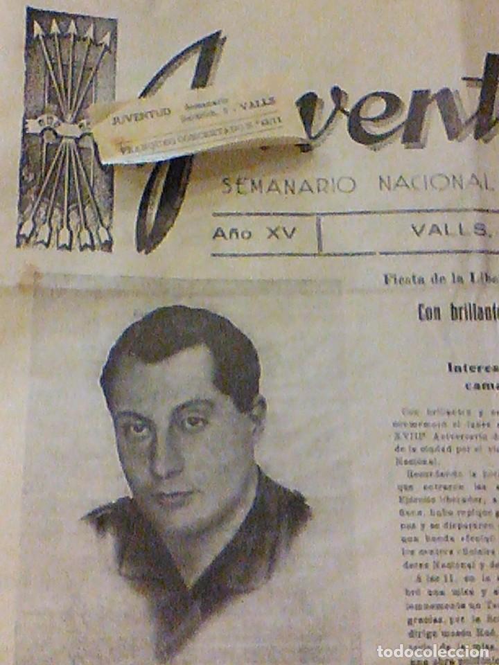 Coleccionismo de Revistas y Periódicos: periodico Juventud semanario nacional sindicalista nº 730 VALLS 19 enero DE 1957 jose antonio - Foto 4 - 103171231