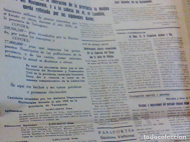 Coleccionismo de Revistas y Periódicos: periodico Juventud semanario nacional sindicalista nº 730 VALLS 19 enero DE 1957 jose antonio - Foto 7 - 103171231