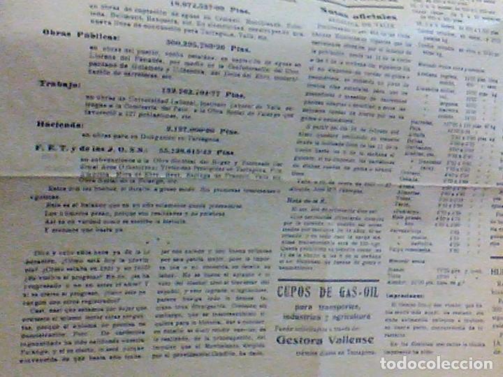 Coleccionismo de Revistas y Periódicos: periodico Juventud semanario nacional sindicalista nº 730 VALLS 19 enero DE 1957 jose antonio - Foto 8 - 103171231