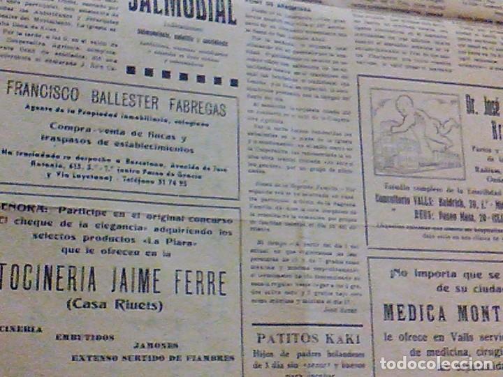Coleccionismo de Revistas y Periódicos: periodico Juventud semanario nacional sindicalista nº 730 VALLS 19 enero DE 1957 jose antonio - Foto 12 - 103171231