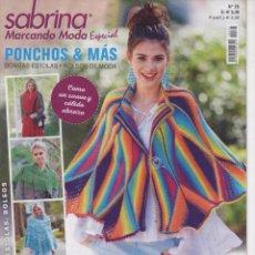 Coleccionismo de Revistas y Periódicos: SABRINA MARCANDO MODA ESPECIAL N. 25 - PONCHOS, ESTOLAS, BOLSOS (NUEVA). Lote 103178743