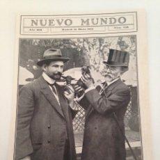 Coleccionismo de Revistas y Periódicos: HOJA REVISTA ORIGINAL 1912. ALCALDE DE MADRID EN EXPOSICION CANINA LA CASTELLANA. TIRO PICHON MADRID. Lote 103183755