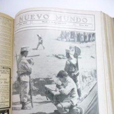 Coleccionismo de Revistas y Periódicos: NUEVO MUNDO 2º SEMESTRE AÑO 1909 GUERRA ÁFRICA SEMANA TRÁGICA BARCELONA FRANCISCO FERRER. Lote 103238819