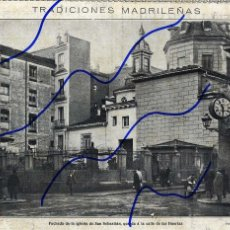 Coleccionismo de Revistas y Periódicos: MADRID 1919 IGLESIA DE SAN SEBASTIAN CALLE HUERTAS HOJA REVISTA. Lote 103501671