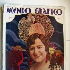 Coleccionismo de Revistas y Periódicos: REVISTA MUNDO GRAFICO Nº 816 JUNIO DE 1927 PORTADA PAQUITA ALFONSO, TRENES ALCANTARILLA.... Lote 103526563