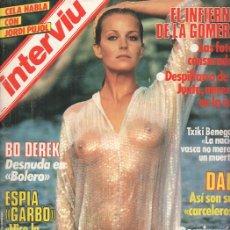 Coleccionismo de Revistas y Periódicos: REVISTA: INTERVIU, NUMERO 438: BO DEREK, DESNUDA EN BOLERO (ZETA 1984). Lote 103594880