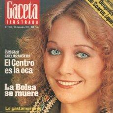 Coleccionismo de Revistas y Periódicos: REVISTA: GACETA ILUSTRADA, NUMERO 1106: NAVIDAD NI CRISIS NI NADA (1977). Lote 103595234