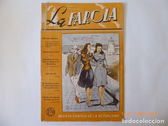 MALAGA REVISTA LA FAROLA, , REVISTA ACTUALIDAD DE LA EPOCA, (Coleccionismo - Revistas y Periódicos Antiguos (hasta 1.939))