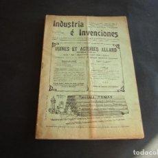Coleccionismo de Revistas y Periódicos: ANTIGUA REVISTA SEMANAL ILUSTRADA INDUSTRIA E INVENCIONES. Lote 103693543