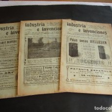 Coleccionismo de Revistas y Periódicos: ANTIGUA REVISTA SEMANAL ILUSTRADA INDUSTRIA E INVENCIONES. Lote 103694051