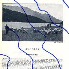 Coleccionismo de Revistas y Periódicos: ANDORRA 1910 HOJA REVISTA. Lote 103698567