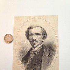 Coleccionismo de Revistas y Periódicos: GRABADO REVISTA ORIGINAL SIGLO XIX. RETRATO BARON RICASOLI, NATURAL DE FLORENCIA. Lote 103742119