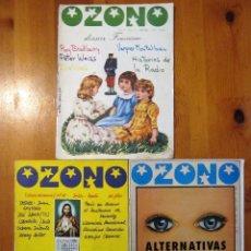 Coleccionismo de Revistas y Periódicos: LOTE 3 OZONO REVISTAS Nº 11 (1976) EXTRAORDINARIO Nº31 1978 Nº41 1979. Lote 103847223