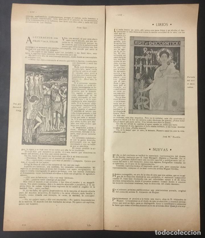 Coleccionismo de Revistas y Periódicos: REVISTA LUZ. 2ª ÉPOCA. 8 NÚMEROS. RARÍSIMA REVISTA MODERNISTA. - Foto 4 - 104057303