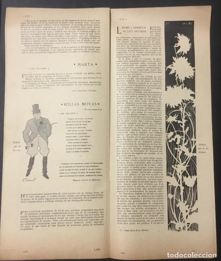 Coleccionismo de Revistas y Periódicos: REVISTA LUZ. 2ª ÉPOCA. 8 NÚMEROS. RARÍSIMA REVISTA MODERNISTA. - Foto 6 - 104057303