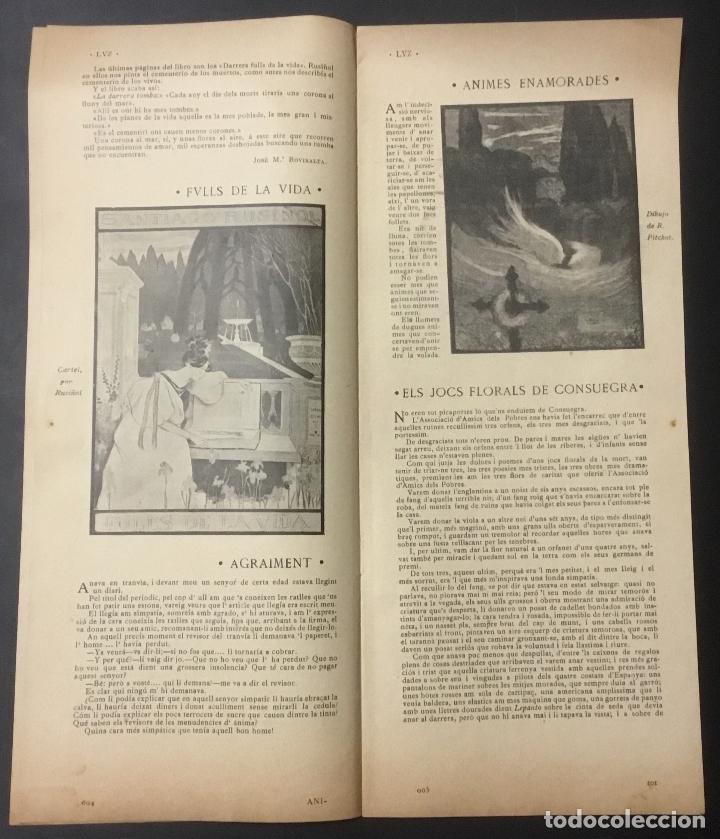 Coleccionismo de Revistas y Periódicos: REVISTA LUZ. 2ª ÉPOCA. 8 NÚMEROS. RARÍSIMA REVISTA MODERNISTA. - Foto 7 - 104057303